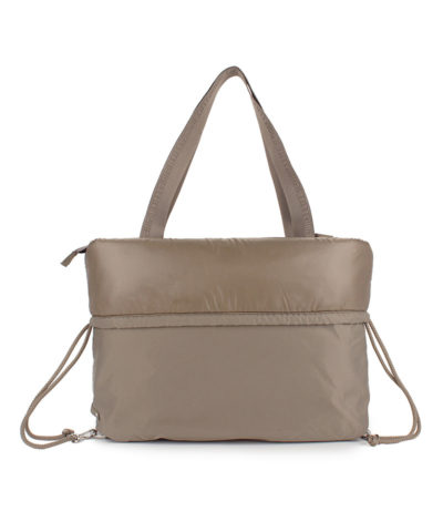 Backpack City Bag Taupe back view