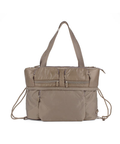 Backpack City Bag Taupe Front view