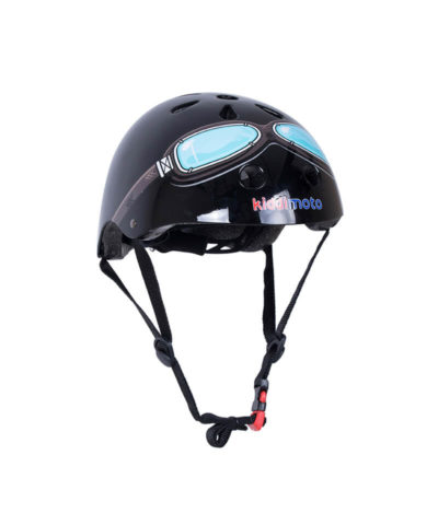 Kiddimoto Black Goggle Bicycle Helmet