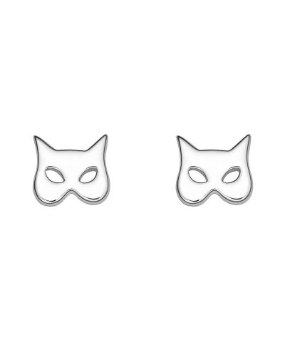CAT MASK STUD EARRINGS