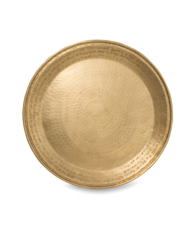 Gava Round Brass Tray