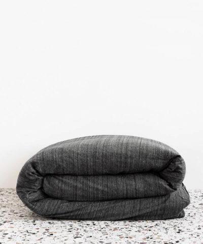Cotton Jersey Duvet Set-Charcoal