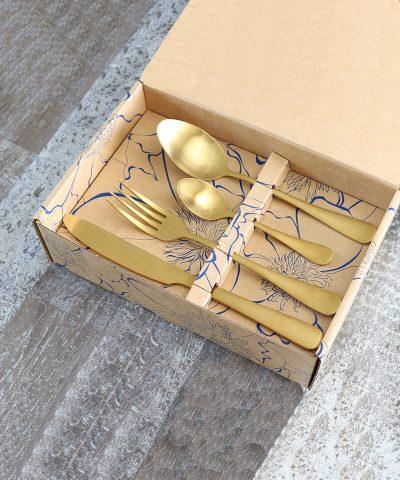 Classic 24 Pcs Cutlery Set Matte Gold