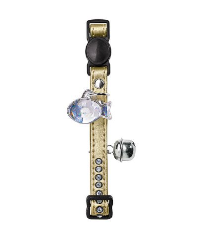 Cat Collar Modern Art Luxus-Gold