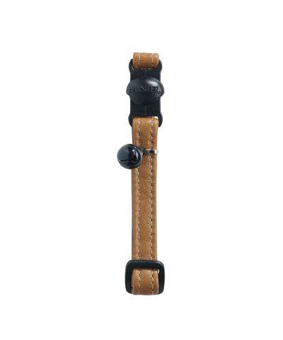 Cat collar Elk Leather-Cognac