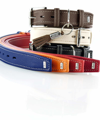 Cannes Leather Dog Collar