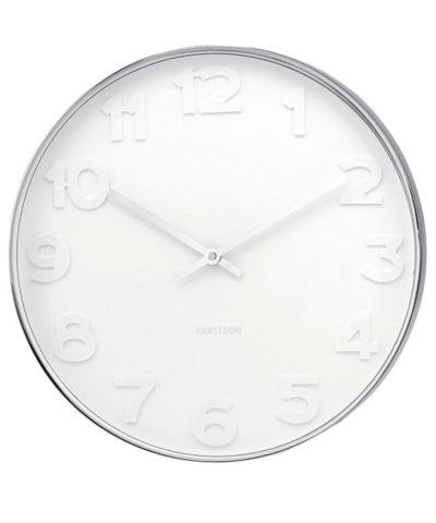 Karlsson Clock Mr White Numbers