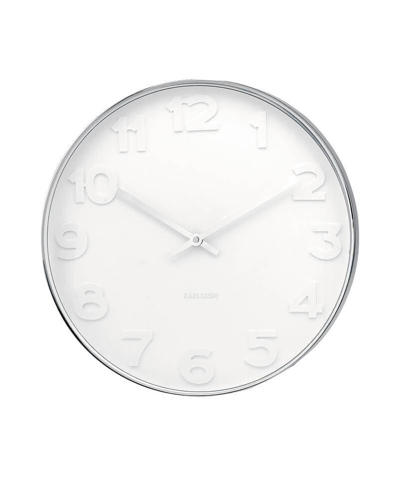 Karlsson Clock Mr White Numbers Wall Clocks Nz