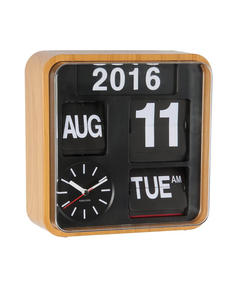 karlsson mini calendar flip clock office clock wall clocks gifts ideas. Black Bedroom Furniture Sets. Home Design Ideas