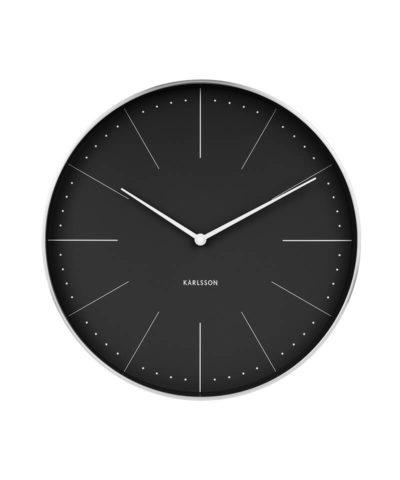Karlsson Clock Normann Black