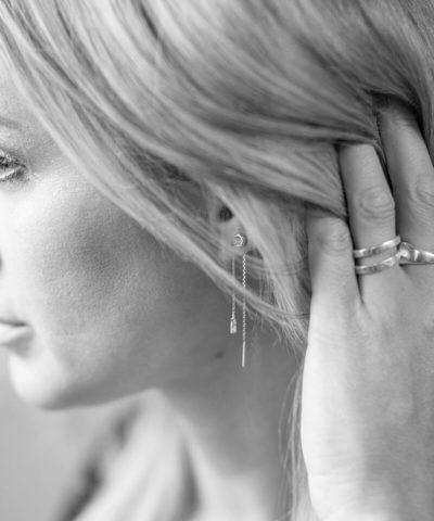 Threader Stone Earrings