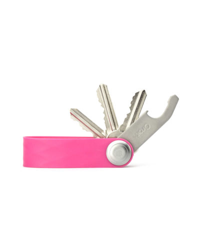 orbitkey active pink,showing keys and bottle opener
