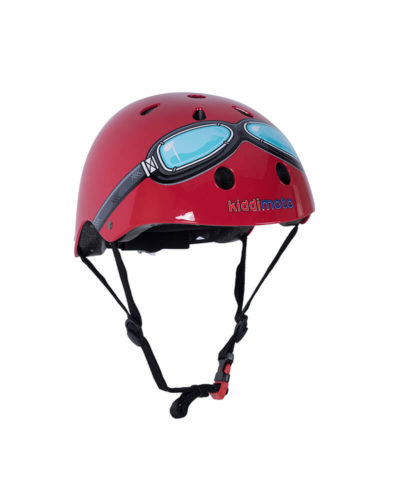 Kiddimoto Red Goggle Bicycle Helmet