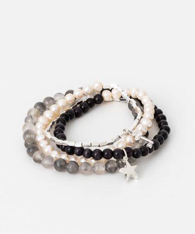Black Pearl Grey Wrap Bracelet