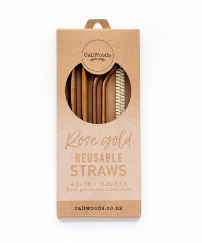 Rose Gold Reusable Straws
