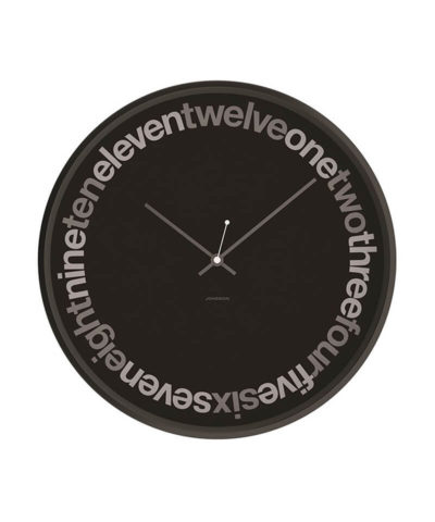 Jonsson Wall Clock Text Black