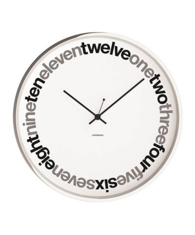 Jonsson Wall Clock Text White