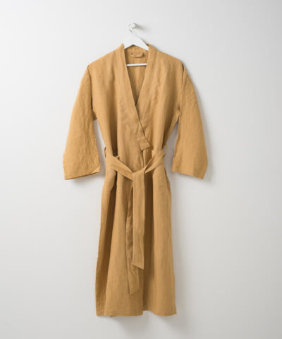 Bella Linen Dressing Gown