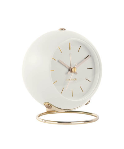 Karlsson Alarm Clock Globe - White