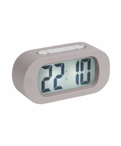 Karlsson Gummy Alarm Clock - Warm Grey