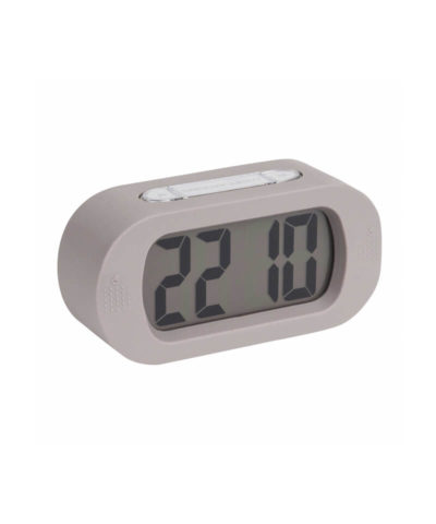 Karlsson Gummy Alarm Clock - Warm Grey