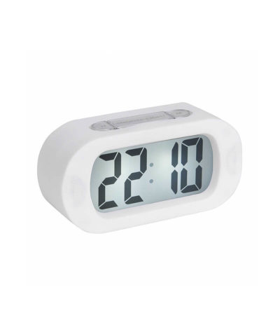 Karlsson Gummy Alarm Clock - White