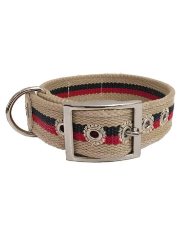 New Orleans Stripes Dog Collar