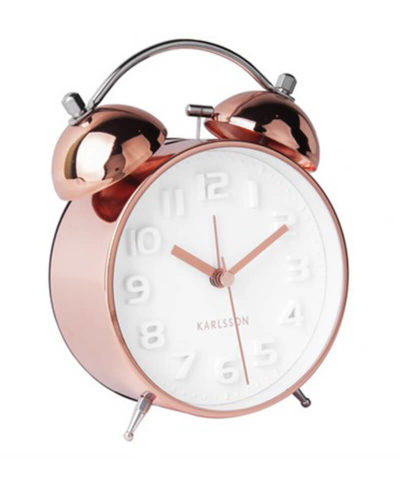 Karlsson Alarm clock Mr White copper