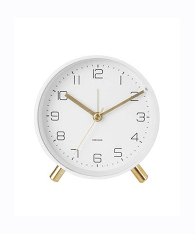 karlsson Lofty Alarm Clock-White
