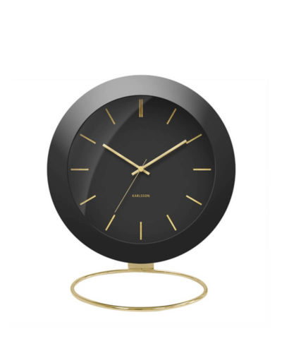 Karlsson Alarm Clock Globe - Black