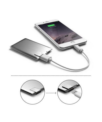 Ultra Slim Power Bank Card 1300mAh