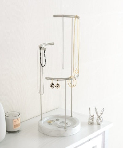 Tesora Marble Jewelry Stand
